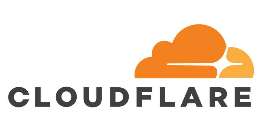 Logo of the content delivery network Cloudflare.